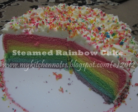Steamed Rainbow Cake