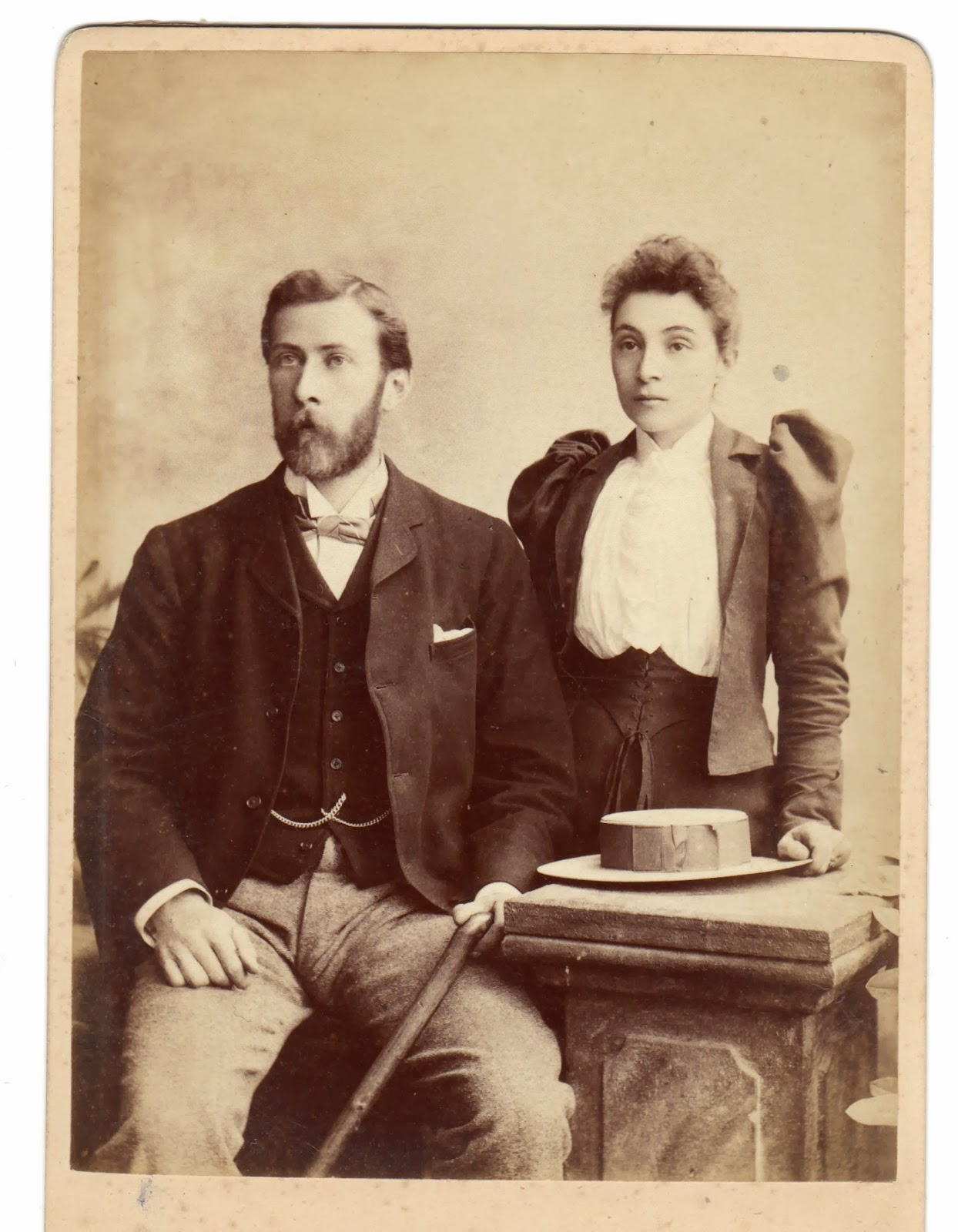 William Leopold and Gertrude Williamson when first married (1893)