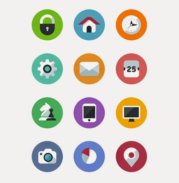 Free Flat Icons Set by We are Pinto, Vlad Litvin, and Yuriy Degtyar free download avatar terbaru png file