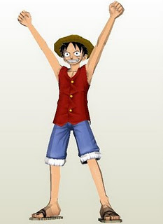 One Piece, Luffy Papercraft Model