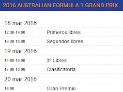Horarios de la carrera