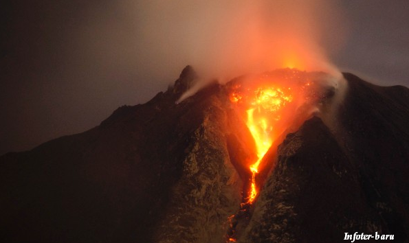 volcanic eruption in Indonesia that has displaced more than 22,000