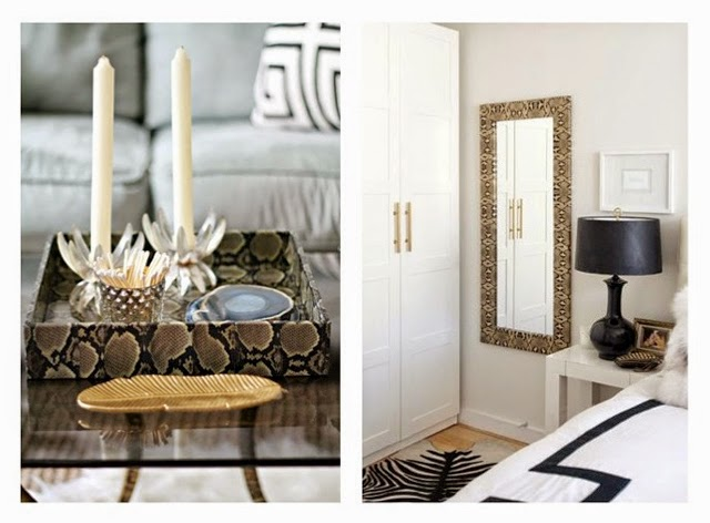 Animal Print Tray, Mirror and Rug