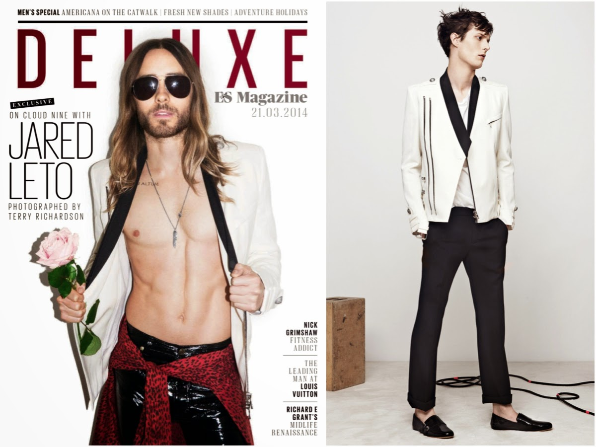 Jared Leto in Balmain and Saint Laurent - ES Magazine DELUXE March 2014