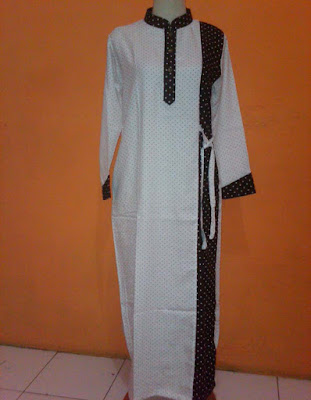 Model Baju Gamis Katun Muslimah Motif Bintik