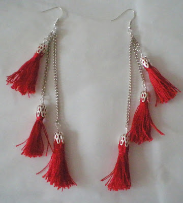 crafty jewelry: mini tassels earrings