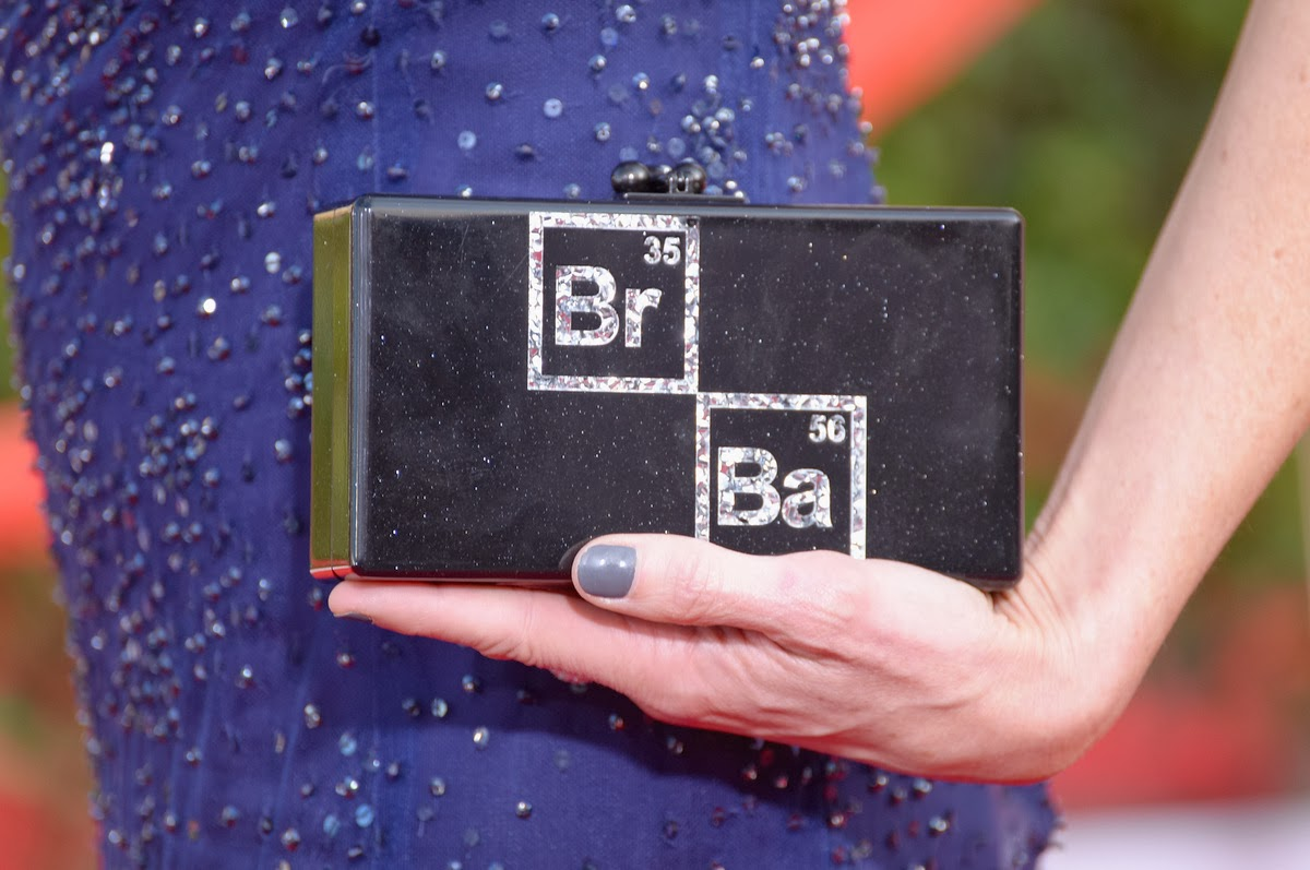 Breaking Bad clutch worn by Anna Gunn at the SAG awards