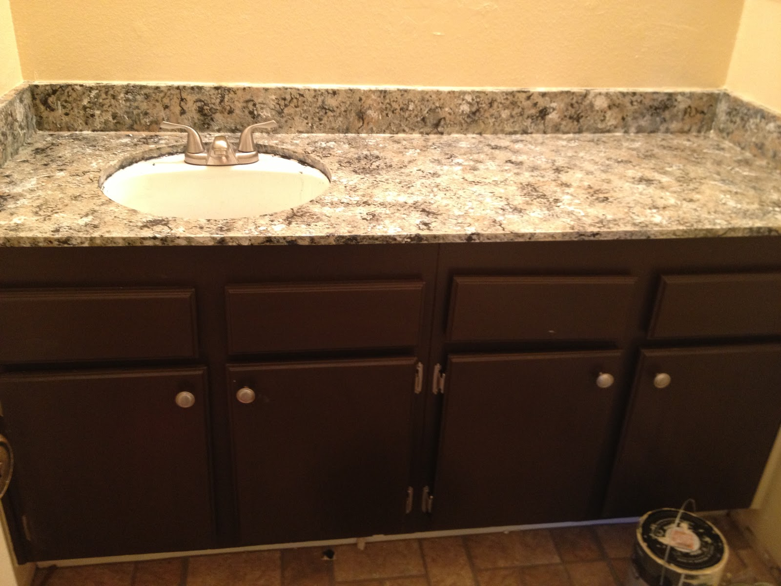How to paint bathroom countertops - Giani Granite Countertop Paint Bathroom Remodel