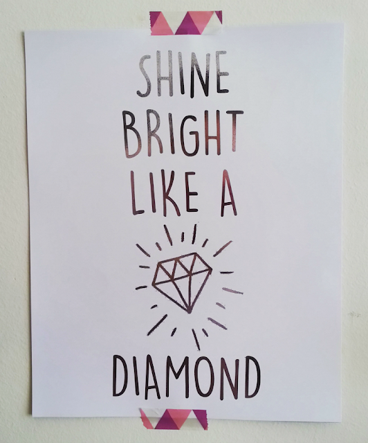 Papercake shine bright like a diamond silver foil print