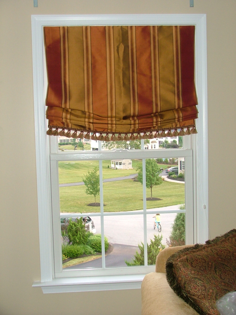 Roman Shades Fringe Relaxed Roman Shade With
