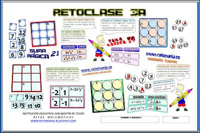 Retos Matemáticos, problemas matemáticos, desafíos matemáticos, retos matemáticos con solución, cuadrados mágicos, problemas de lógica