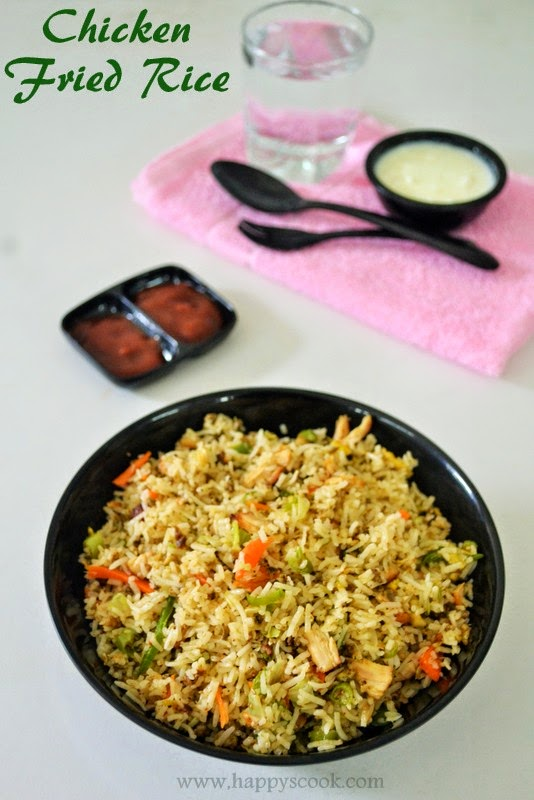 how to make chicken fried rice indian style