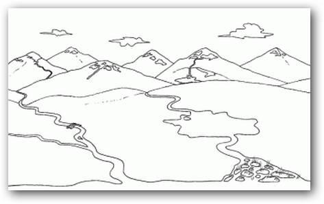 Dibujos De Paisajes De Bosques Y Montañas Para Colorear Imagui