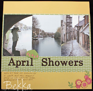 Stampin' Up! April Showers Scrapbook Page