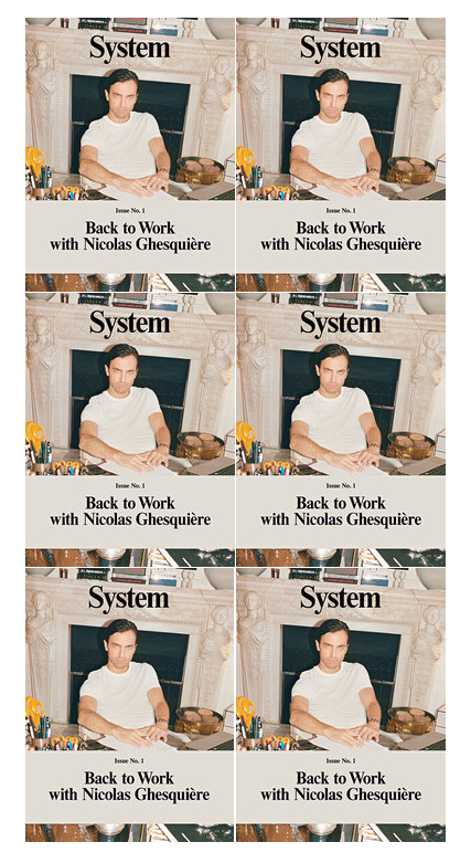 Nicolas Ghesquière on the cover of System Magazine by Juergen Teller