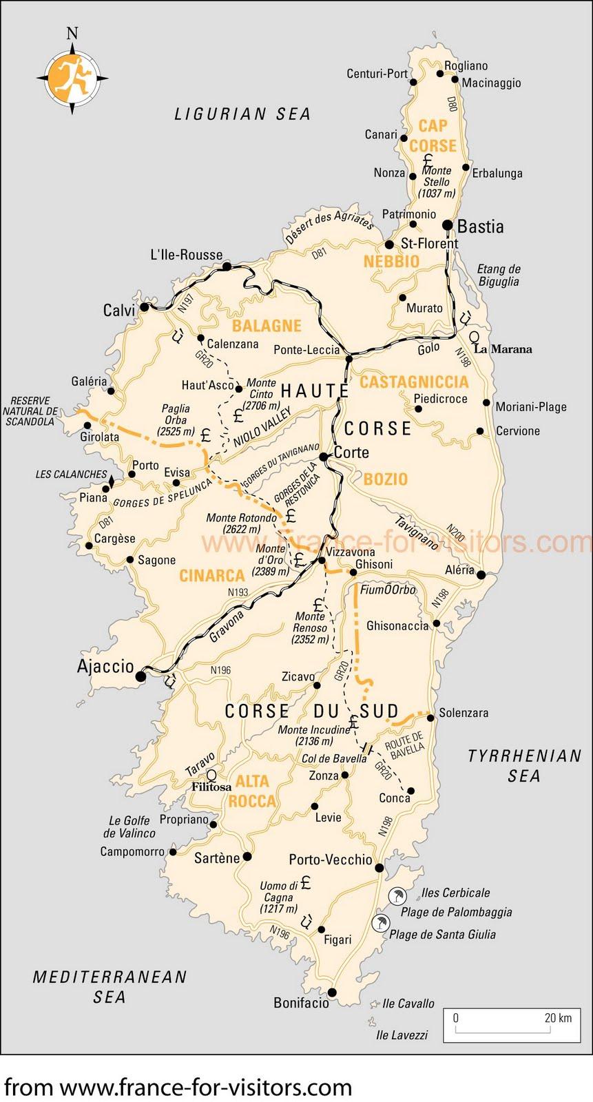 Corsica - la Corse - Korsika: Travel Information