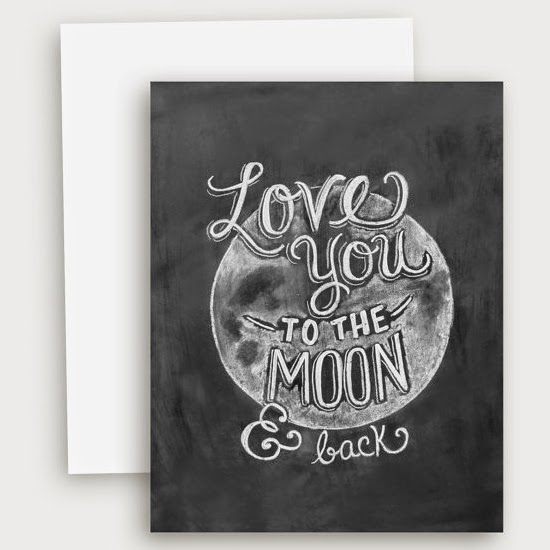 Ma Bicyclette: Buy Handmade | Valentine's Day Cards - Love you to the moon and back