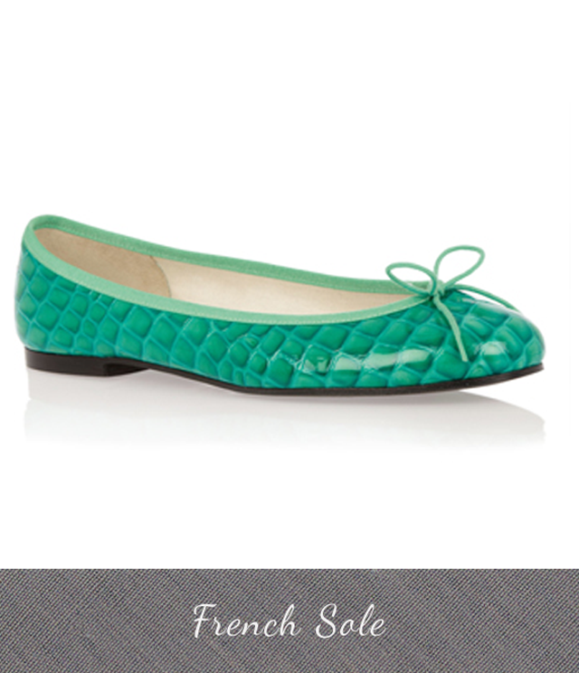French Sole Emerald Ballerina Shoes