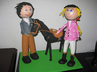 Fofucha, regalo, caballo, flamenco, amazona, artesania, manualidades
