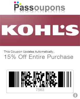 Kohls coupon store codes