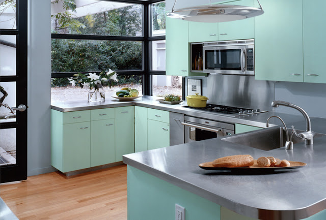 Download ... & Grey Kitchen Cabinets With Turquoise Walls u2013 Quicua.com azcodes.com