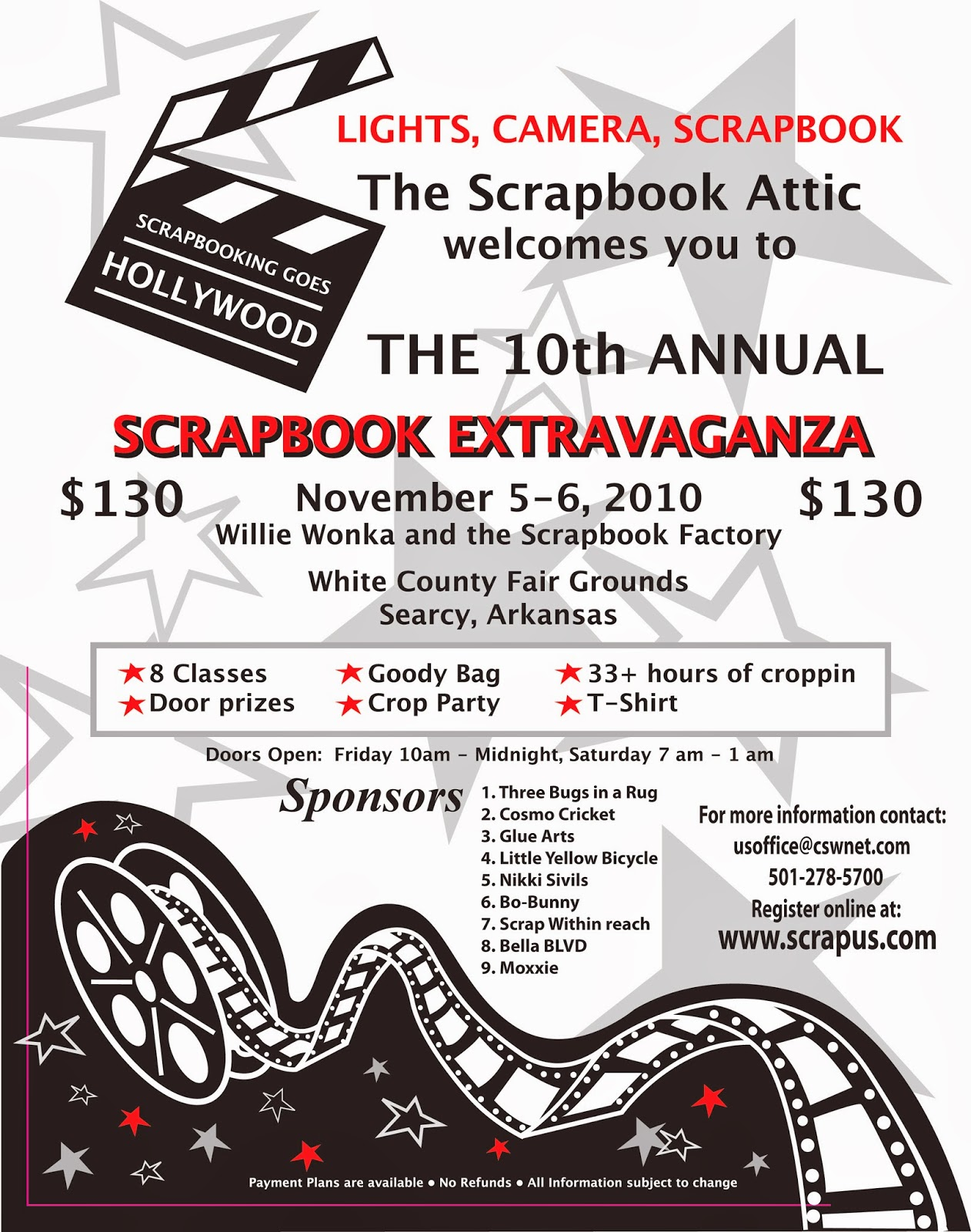 Flyer for 2010 Extravaganza