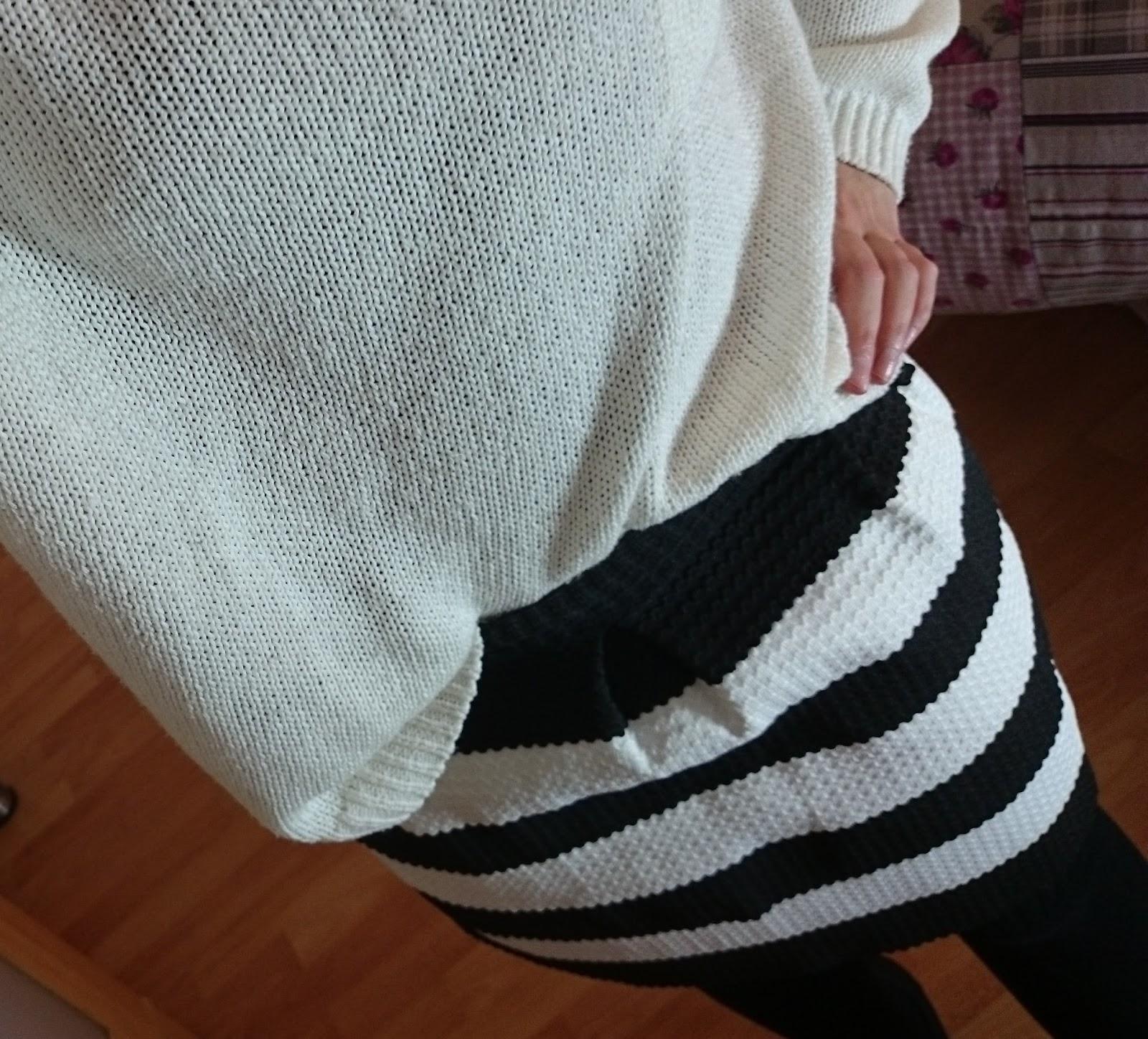 Outfit Winter Rock und Strick