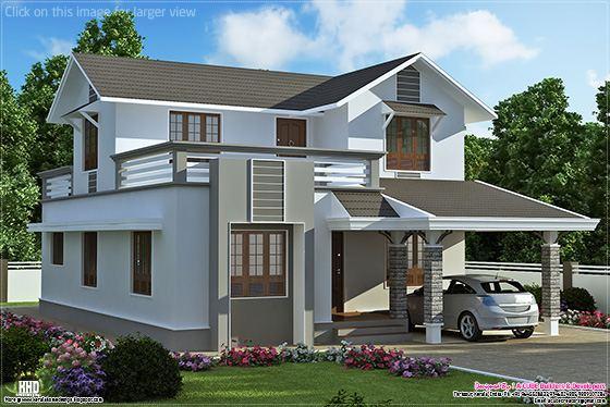 2 storey villa plan