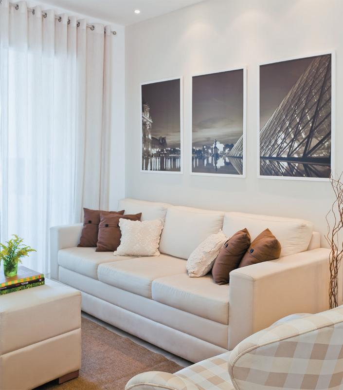 Decoração Para Salas Pequenas: GRUPO MULT CORRETORA: Apartamento Decorado De 70 M² Parece