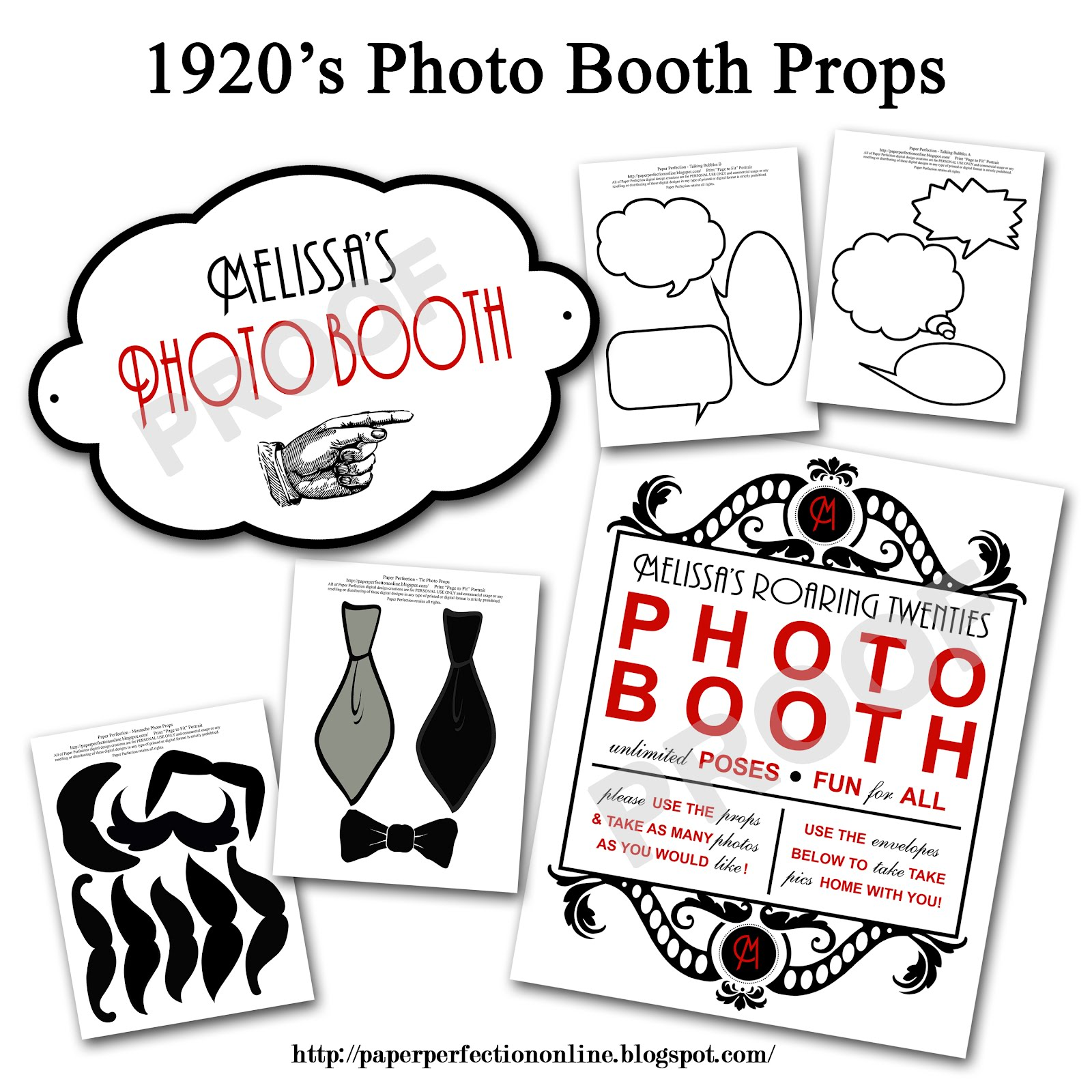 Photo Booth Prop Templates Free Printables