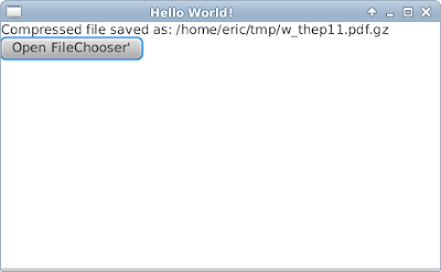 Compress file using java.util.zip, with JavaFX interface