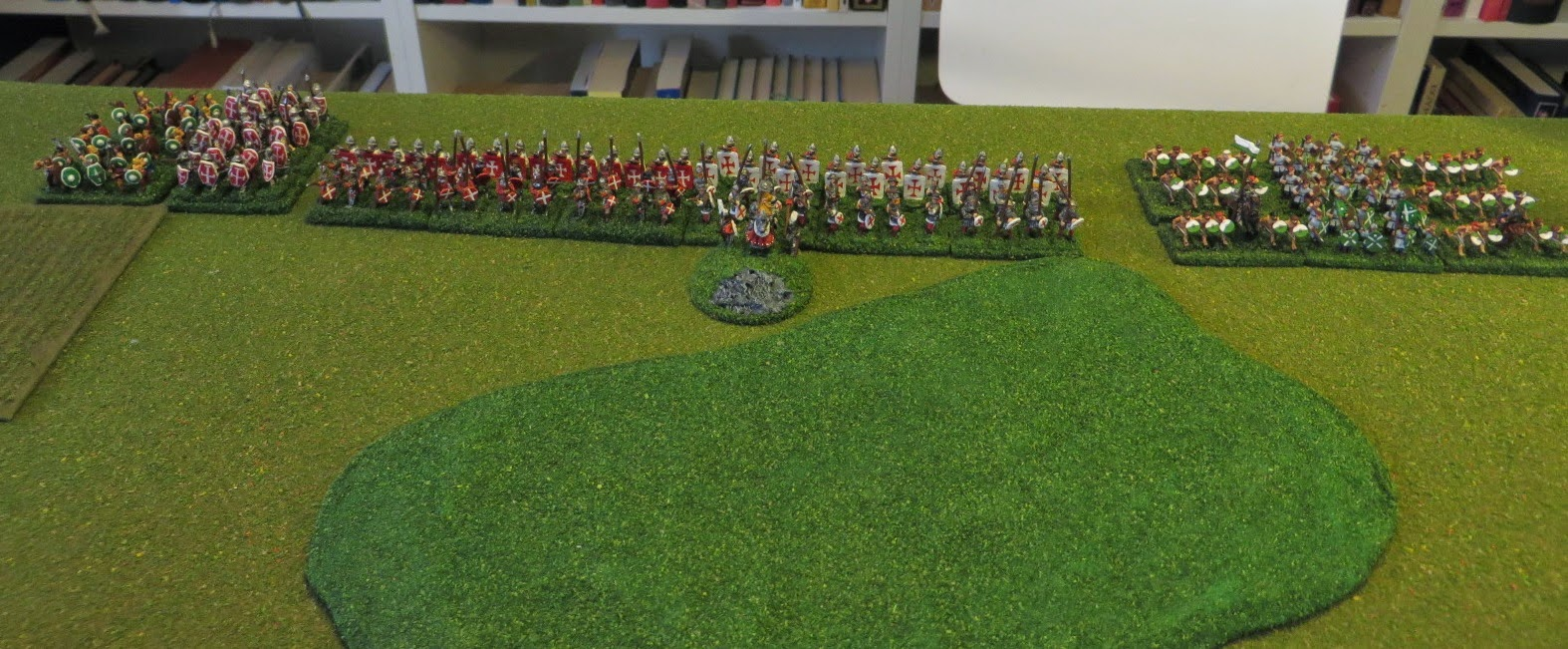 Warmaster, Ancient, Medieval, Battle, report, AAR, painted, Teutonic, York, knights, infantry