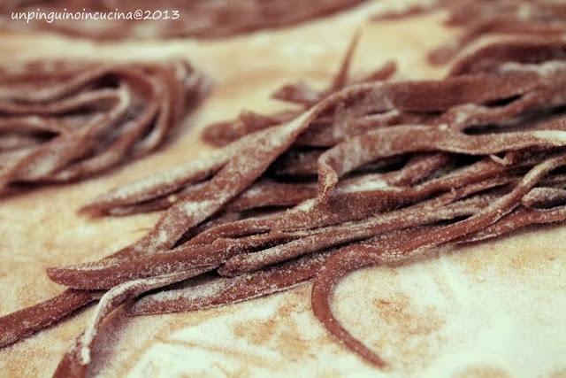 tagliatelle al cacao con ragù di cervo