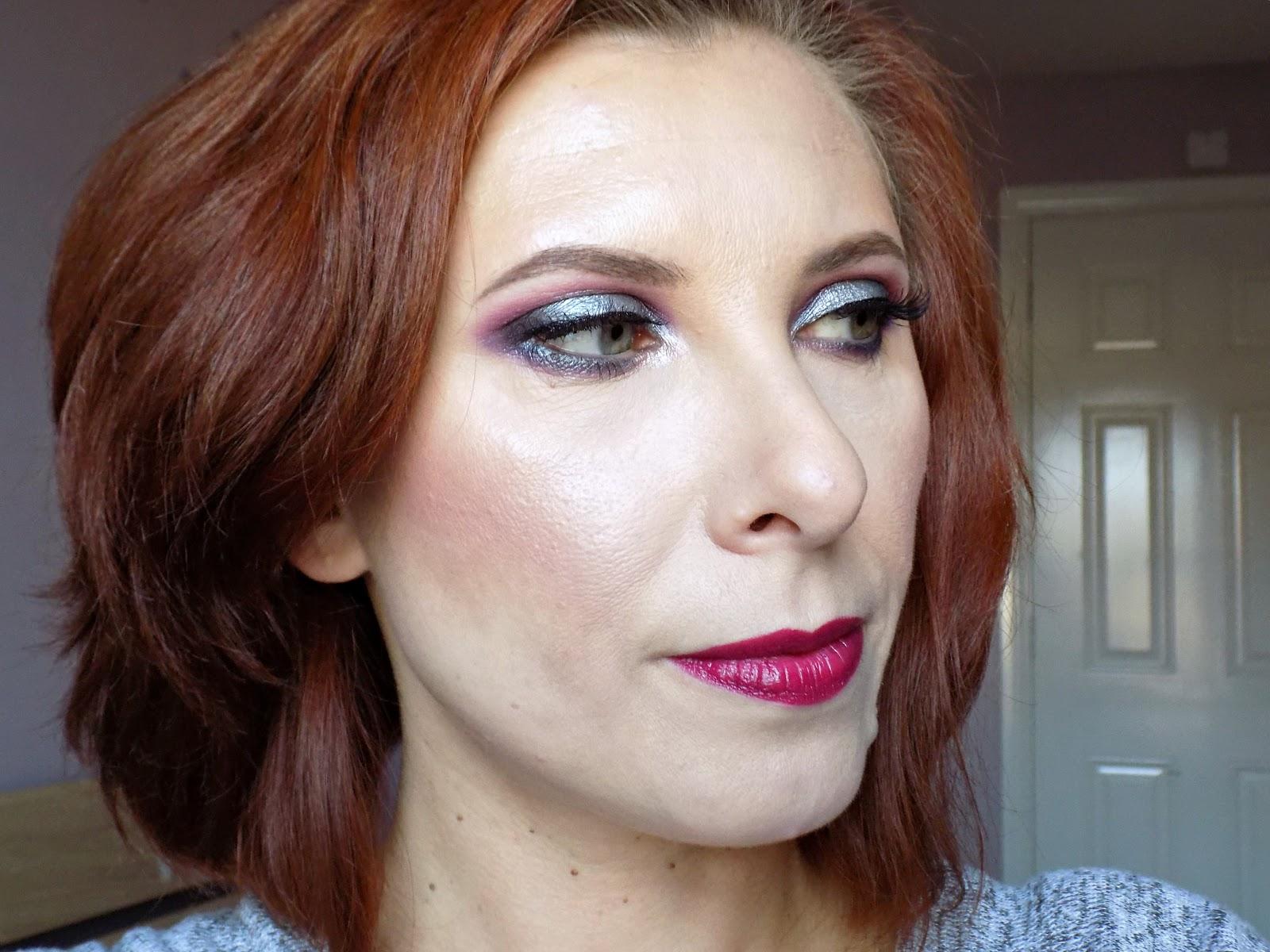 Sleek 'Enchanted Forest' palette makeup look