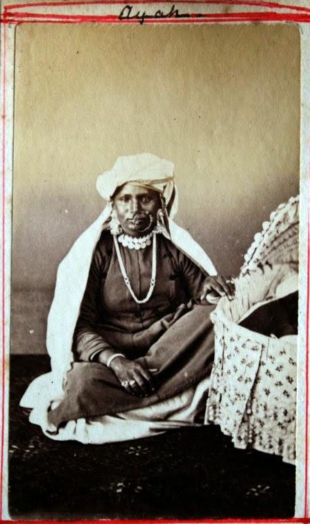 An Ayah (a nanny) - Vintage Photograph, India, c1880's