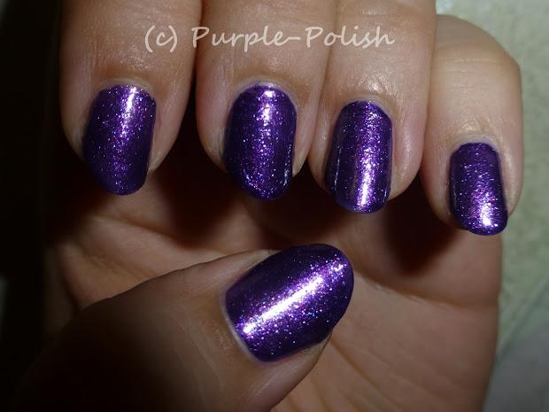 purple polish & pink