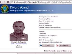 Valdomiro dos Santos é vereador na cidade de Mutuípe (Foto: Reprodução/DivulgaCand TSE)