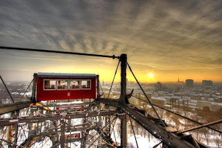 The giant Ferris wheel of Vienna