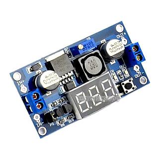LM2596 Power Step-down Module DC 4.0~40 to 1.3-37V + LED Voltmeter ER99