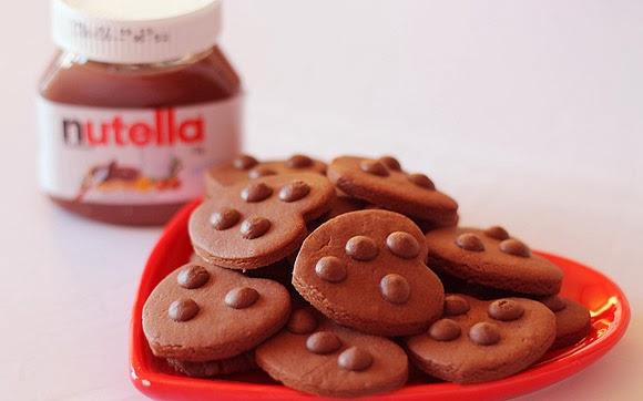 receita cookies nutella