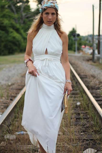 Vintage Lillie Rubin Keyhole Gown