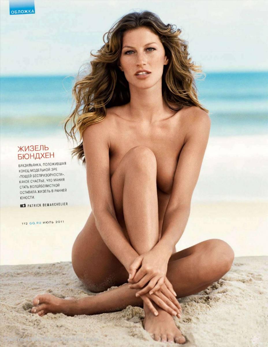 Supermodel of Brazil Gisele Bundchen - Sexy Naked Women