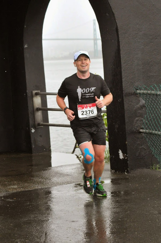 Wet Vancouver Marathon 2014 runner