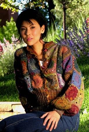 sweter z kwadratow babuni szydelkiem