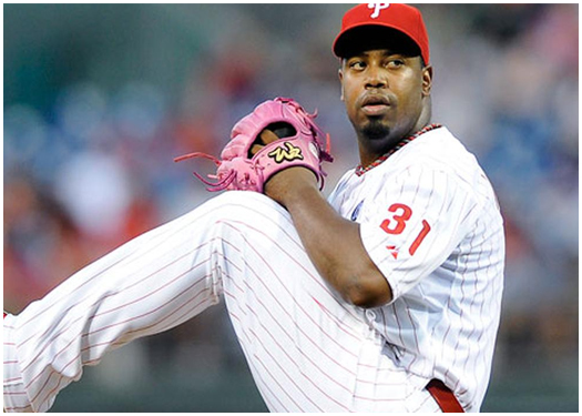 Jerome Williams pitched 6 2/3 for the Phillies.