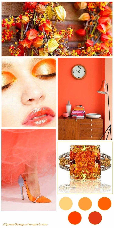 beautiful orange color palette