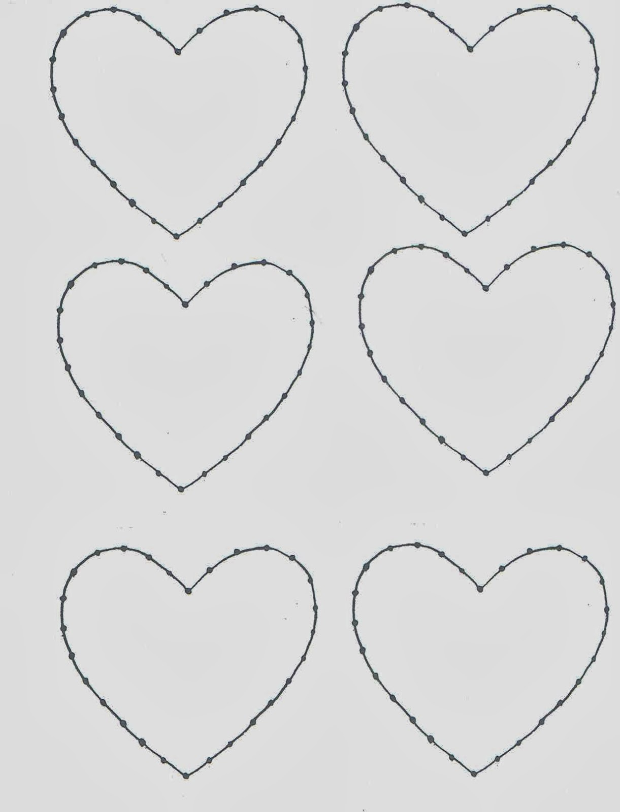 Heart Template Cut Out Cut out a heart and tack it to