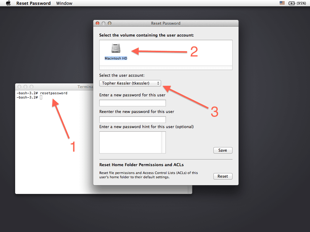Reset Root or admin password on Mac OS X ~ Hawkdive