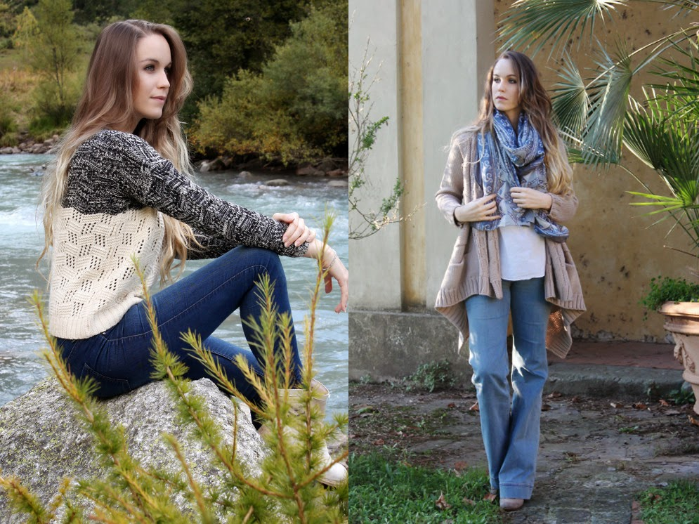 jeans and sweater casual look