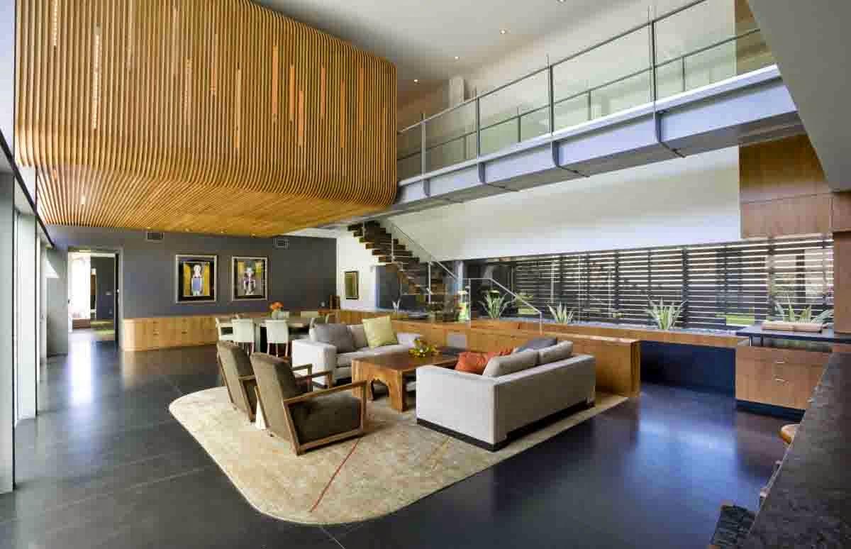 Desain Rumah Minimalis 2 Lantai Dengan Dinding Terbuka Di Lantai 1